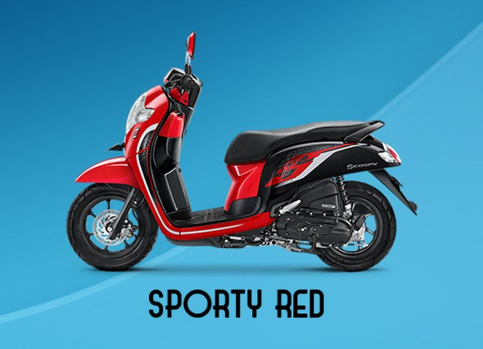 Honda Scoopy Warna Sporty Red
